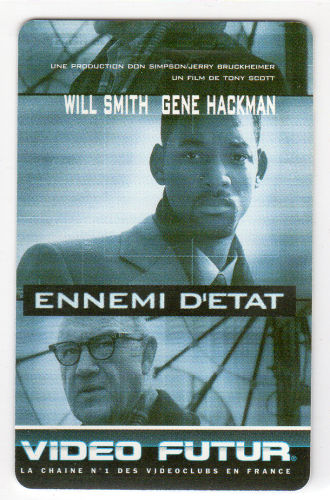 Cinéma - Video Futur - Carte collector n° 83 - Ennemi d État - Will  Smith Gene Hackman - CYBERSFERE.COM 00f0d081823