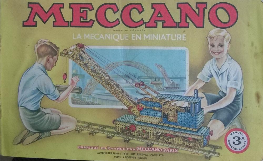 Jeux et jouets - Livres et documents - Meccano - La mécanique en miniature  - Manuel d instructions 3A - CYBERSFERE.COM a4b9b181c5b